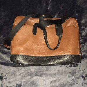 Coach leather two-toned briefcase/laptop bag